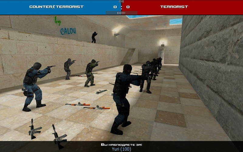 counter-strike 1.6 advanced с улучшенным дизайном в спектрах