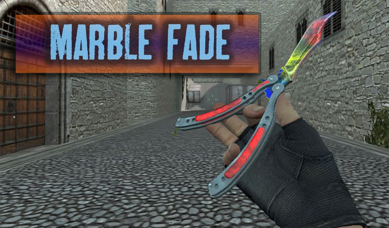 Нож Бабочка HD «Butterfly Knife | Marble Fade»